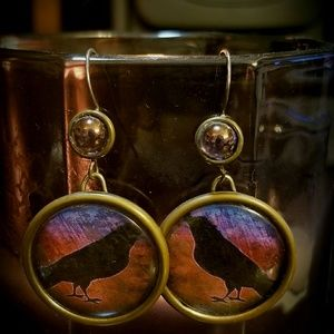 Sunset Crow Earrings